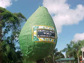 Sign says:Tropical Fruit World & Research Park