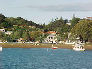 View of Russell, Northland, New Zealand from the water (New Zealand, The Travel Addicts, North Island)