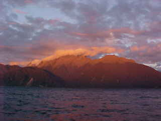 Looking east from the Tasman Sea back onto Milford Sound (New Zealand, The Travel Addicts, South Island)