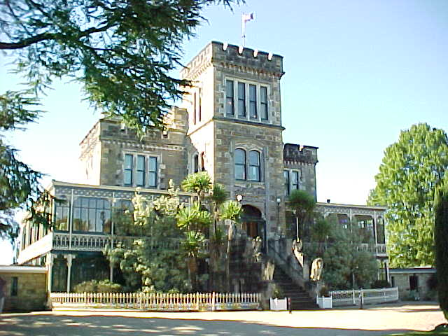 .  Lanarch Castle on the Otago peninsula.    It's a mansion built by an early Kiwi whom later committed suicide on the floor of Parliament because his son was having an affair with his wife (the son's step-mother) (New Zealand, The Travel Addicts, South Island)