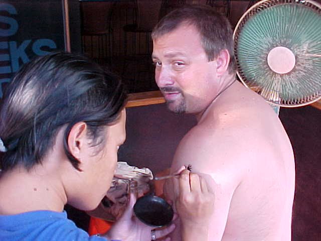 MRA getting a henna tattoo