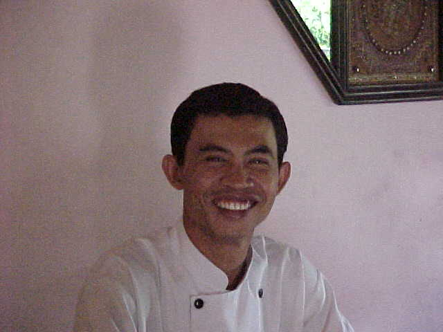 Our cooking instructor in Ubud