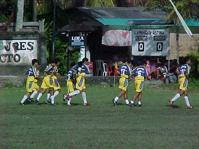 Local Indonesian Soccer team in Ubud, Bali