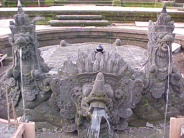 Ganesha fountain at the Palace restaurant in Ubud, Bali