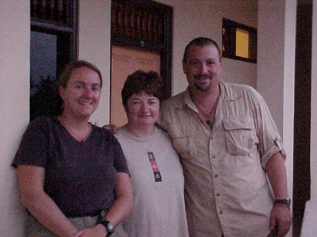 SGK, Pat a nurse we met late from Gallway Ireland now living in Noe Valley San Francisco, and I at the Brata Homestay