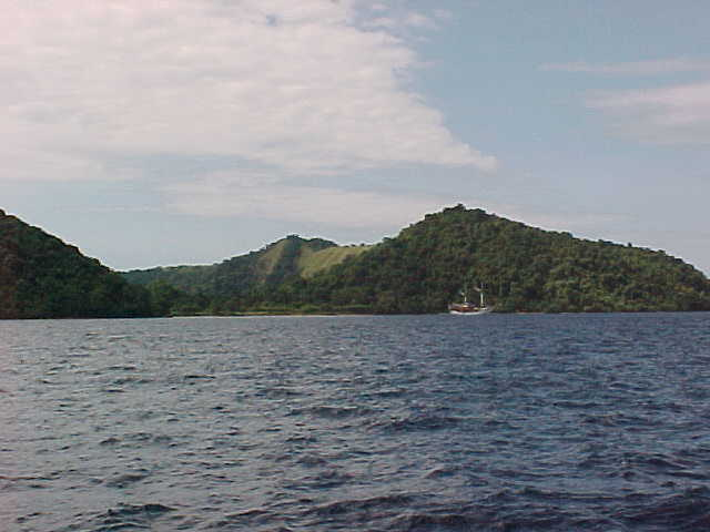 View of Sumbawa from our boat.  .  Sumbawa, West Nusa Tenggara, indonesia (Indonesia, The Travel Addicts, Sumbawa)