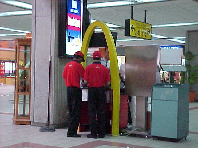 The McDonalds at Singapore's Changi airport (Singapore, The Travel Addicts)