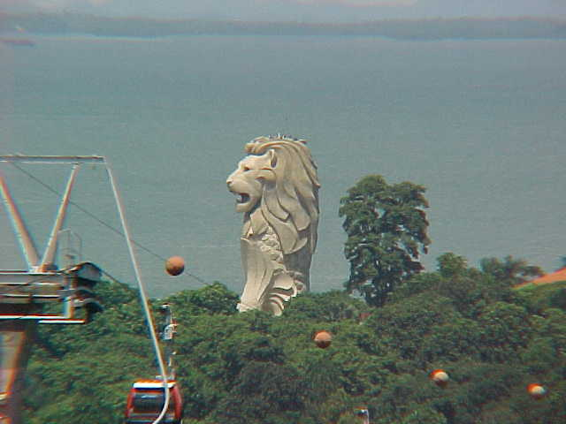 The Merlion from afar :  Singapore's mascot - a fabled protector of the straights (Singapore, The Travel Addicts)
