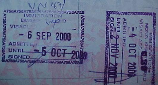 MVC-799S. , Nong Khai, Changwat Nong Khai, Thailand: Our 2nd trip and 3rd Thai entry stamps; Bangkok and Nong Khai. (The Travel Addicts, Thailand)
