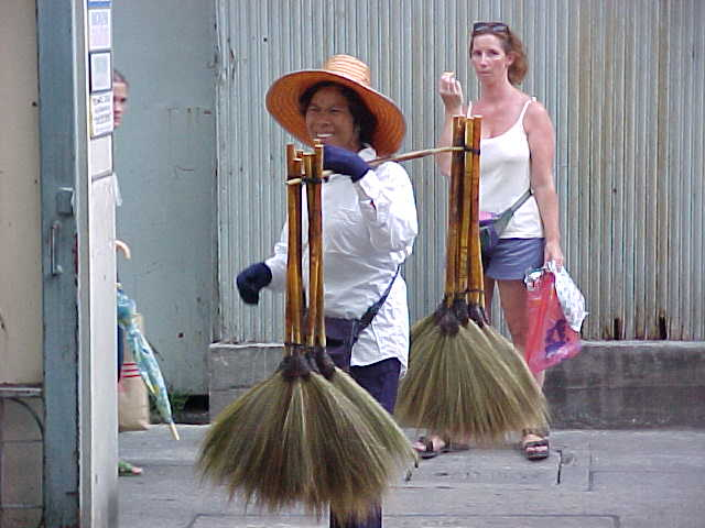 Broom lady :  (Thailand, The Travel Addicts)