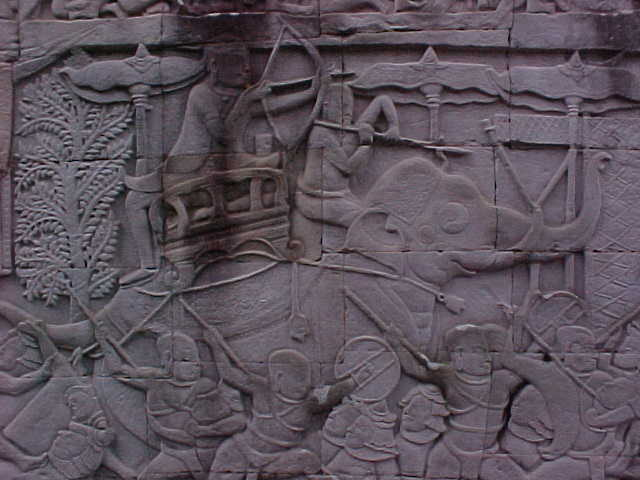 More bas reliefs :  (Cambodia, The Travel Addicts)