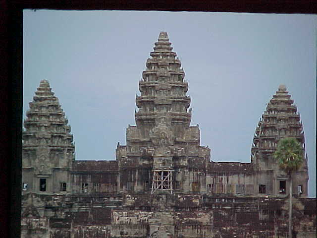 """Pineapples"" : The towers of Angkor Wat are commonly referred to as ""Pineapples"" here are 3 out of the 5 (Cambodia, The Travel Addicts)"