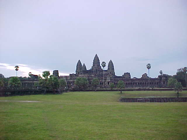 Angkor Wat from one of the libraries :  (Cambodia, The Travel Addicts)