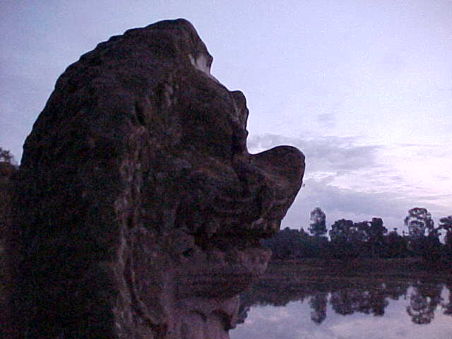 Lions head (Cambodia, The Travel Addicts)