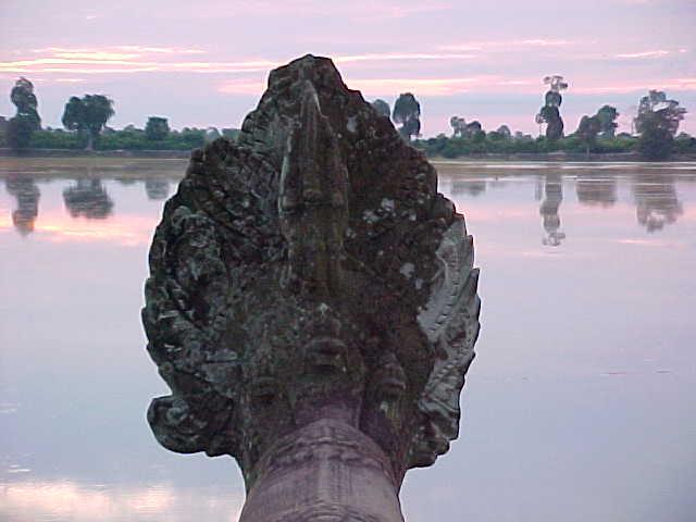 Back of a naga's head (Cambodia, The Travel Addicts)