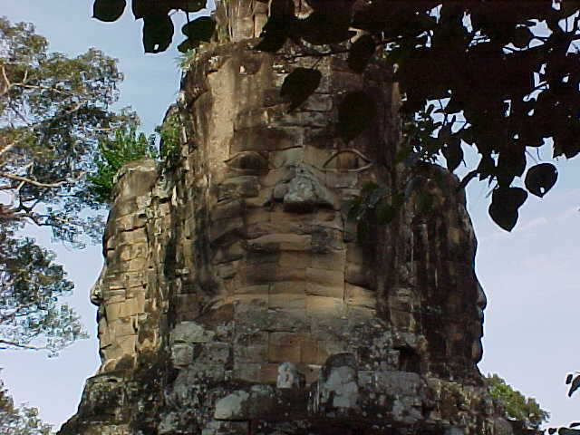 Top of south gate :  (Cambodia, The Travel Addicts)