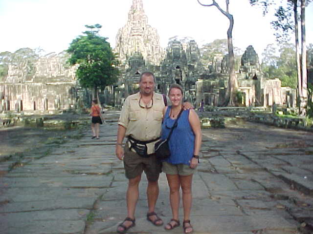 Us at the Bayon :  (Cambodia, The Travel Addicts)