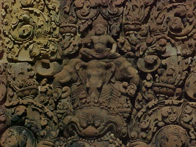 Vishnu atop 3 headed Elephant :  (Cambodia, The Travel Addicts)