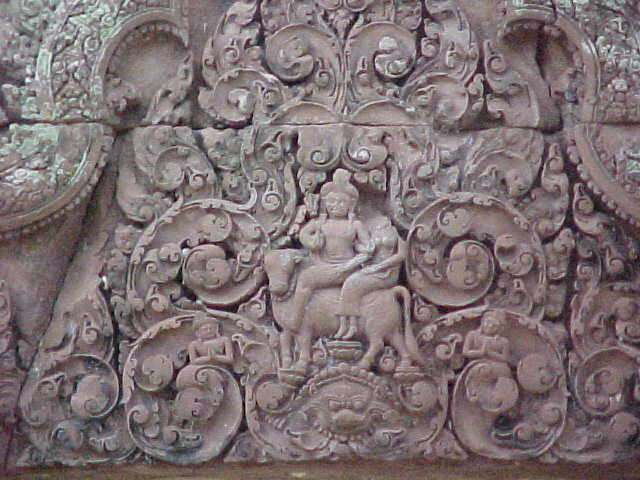 Vishnu on an ox :  (Cambodia, The Travel Addicts)