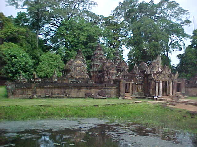 Inner Bantay Srei :  (Cambodia, The Travel Addicts)