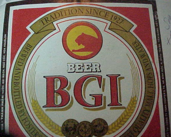 MVC-354S-BGI Beer. : Thin insipid lager. cost about ₫17,000 a bottle.  We prefered to drink Bia hơi, which is mostly home brew and cost ₫17 a cup.  In most cases bia hơi was not much better than BGI; but you couldn't beat the price. (The Travel Addicts, Vietnam)