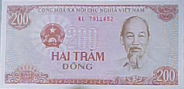 MVC-8221-200 Dong note. , and . : 1 Dollar US = about ₫17,000 (The Travel Addicts, Vietnam)