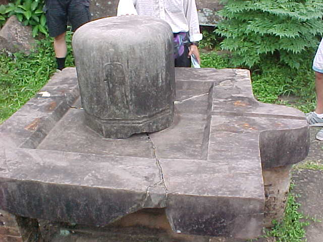 Lingam on Square Yoni : This Yoni (Vagina) is square because the Cham believed the earth was square - later Yoni's were round (Vietnam, The Travel Addicts)
