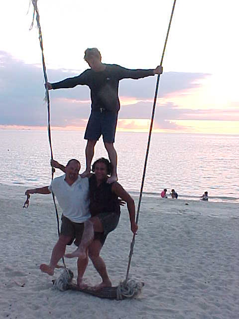 Us boys on the swing :  (Thailand, The Travel Addicts)