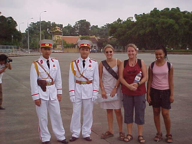 "Two Soldiers and the Girls : The girl not previously mentioned is Kara from Melbourne.  She of the ""I'm skint in Vietnam - no worries; the embassy will give me cash"" misconception. (Vietnam, The Travel Addicts)"