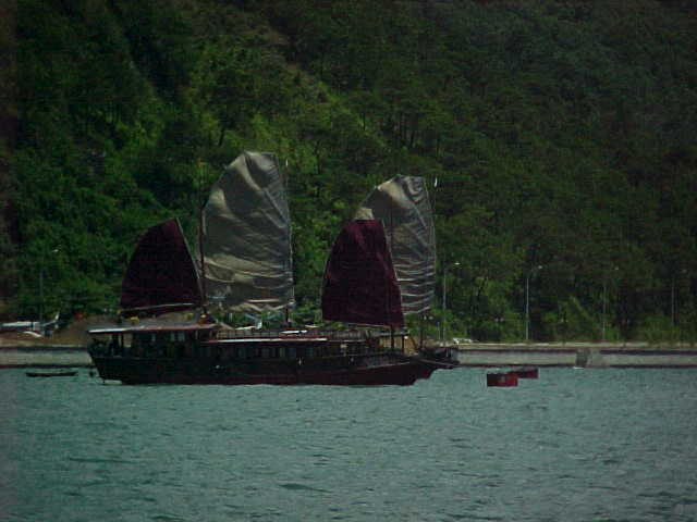 Junk at Ha Long City :  (The Travel Addicts, Vietnam)