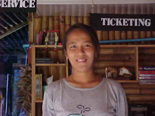 Nong - the owner of Bamboonet in Hat Rin :  (The Travel Addicts, Thailand)