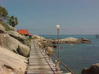 Boardwalk to lighthouse :  (The Travel Addicts, Thailand)