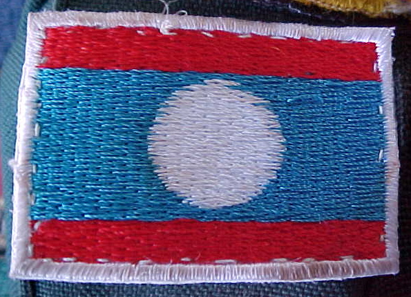 MVC-792S-Lao flag for our backpacks.  (The Travel Addicts, Laos)