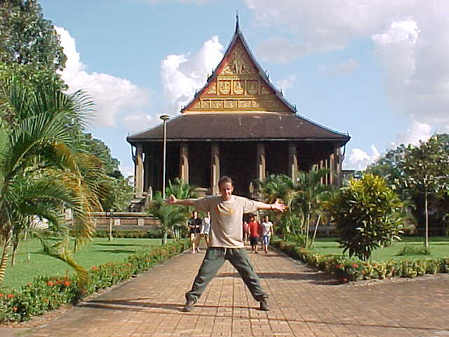 Our friend Mike in the same spot (Laos, The Travel Addicts)
