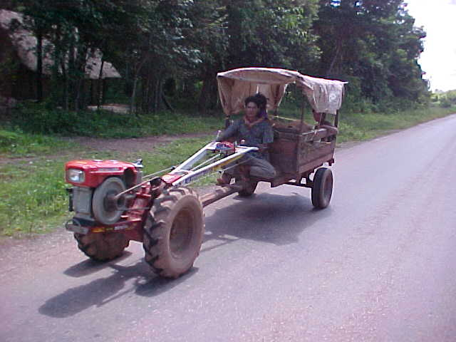 Unique form of Laotion transport (Laos, The Travel Addicts)
