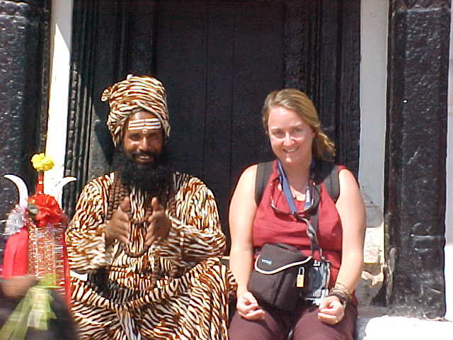 SGK and a Sadhu : A Sadhu is a wandering hindu mystic or holy man.  They are frequently hermits, or wander the land in search of enlightenment.  The most famous Sadhu was Siddhārtha Gautama, an Indian prince who found enlightenment under a bodhi tree in the Terai and became The Buddha. (Nepal, The Travel Addicts)