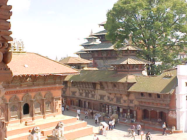"""Hanumān's palace : Hanumān is a figure from the Ramayana - sometimes referred to by westerners as """"the Monkey God""""  He led his army from Mt. Kailash in Tibet to the stepstones of Sri Lanka to overthrow the """"evil King of Langka"""" (Nepal, The Travel Addicts)"""