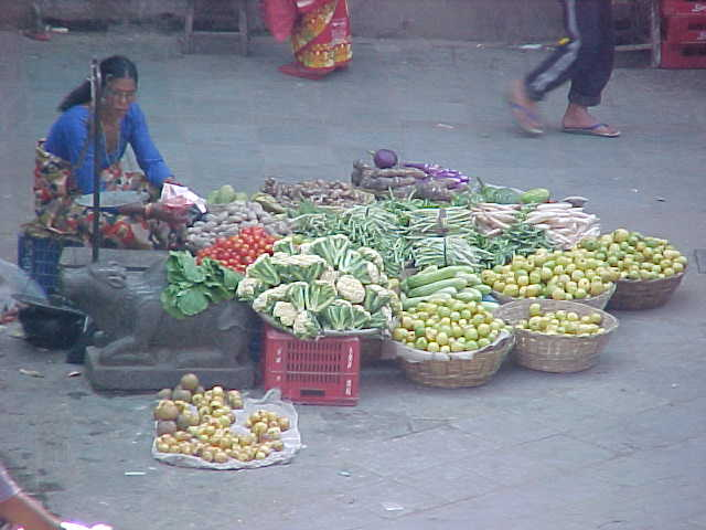Fruit seller (Nepal, The Travel Addicts)