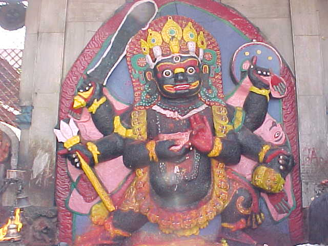 Bhairab : Bhairab is a scary manifestation of Shiva (Nepal, The Travel Addicts)