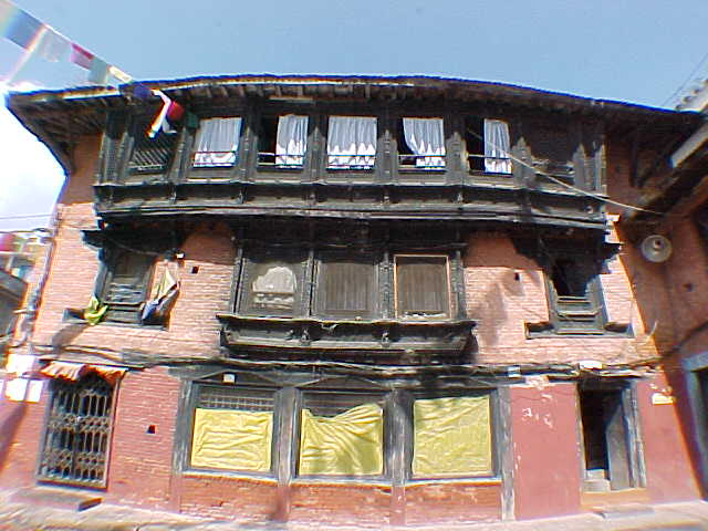 Nepali Architecture : (The distortion is from a wide angle lens) (Nepal, The Travel Addicts)