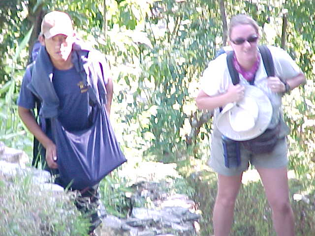 Dawa escorting SGK up the mountain (Nepal, The Travel Addicts)