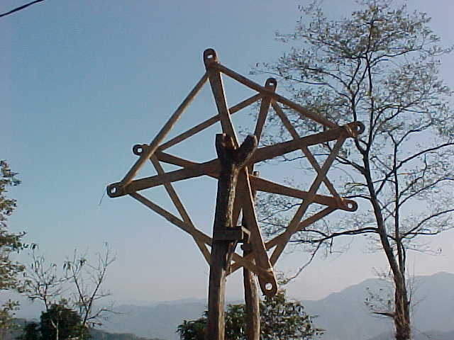 Primitive ferris wheel under construction (Nepal, The Travel Addicts)
