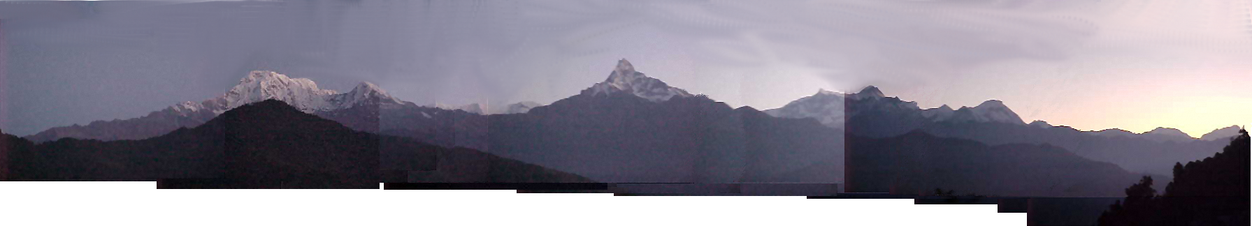 Panorama in Dhampus (Nepal, The Travel Addicts)