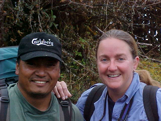 Pemba - our tail guide and SGK (Nepal, The Travel Addicts)