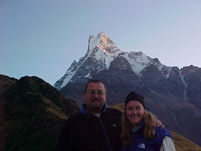 SGK and I with Fishtail (Nepal, The Travel Addicts)