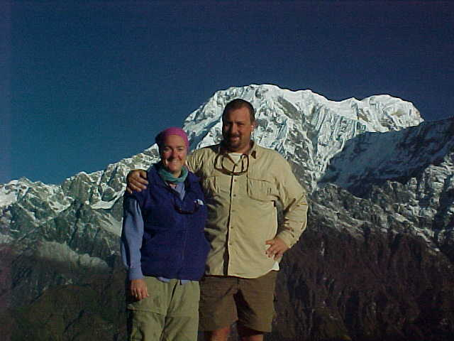 Us at High Camp (Nepal, The Travel Addicts)