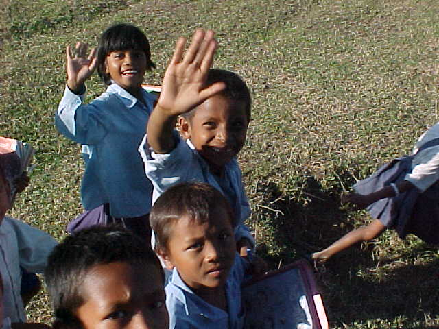 Tharu schoolchildren (Nepal, The Travel Addicts)