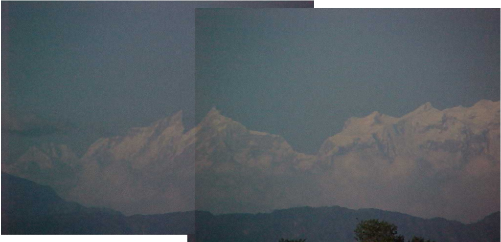 Himalayas from the terai