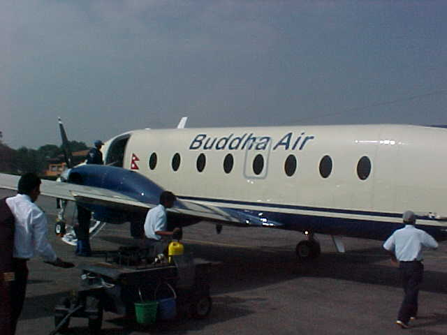 Our carrier: Buddha Air (Nepal, The Travel Addicts)