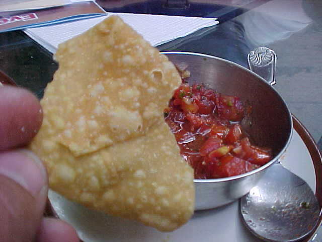 Nepali chips and salsa (Nepal, The Travel Addicts)